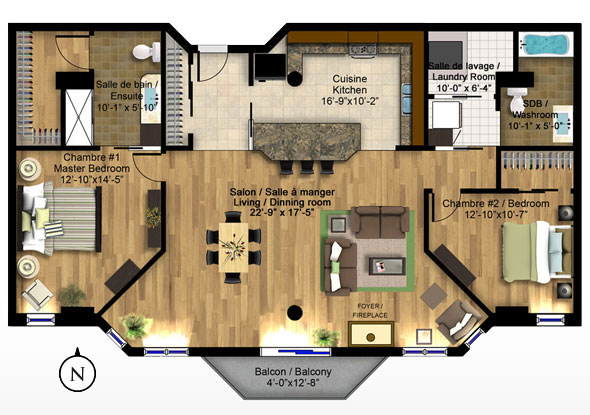 Park place immediate occupancy contemporary urban for Condo blueprints