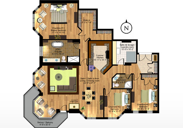Park place immediate occupancy contemporary urban for Condo house plans